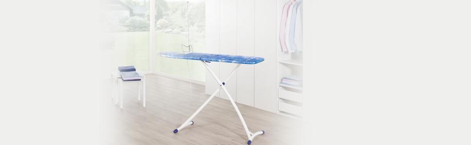 Leifheit B/ügeltisch Air Board XL Ergo mit ultraleichter B/ügelfl/äche B/ügelbrett f/ür reduzierte B/ügelzeit Dampfb/ügeltisch mit stabilem Gestell