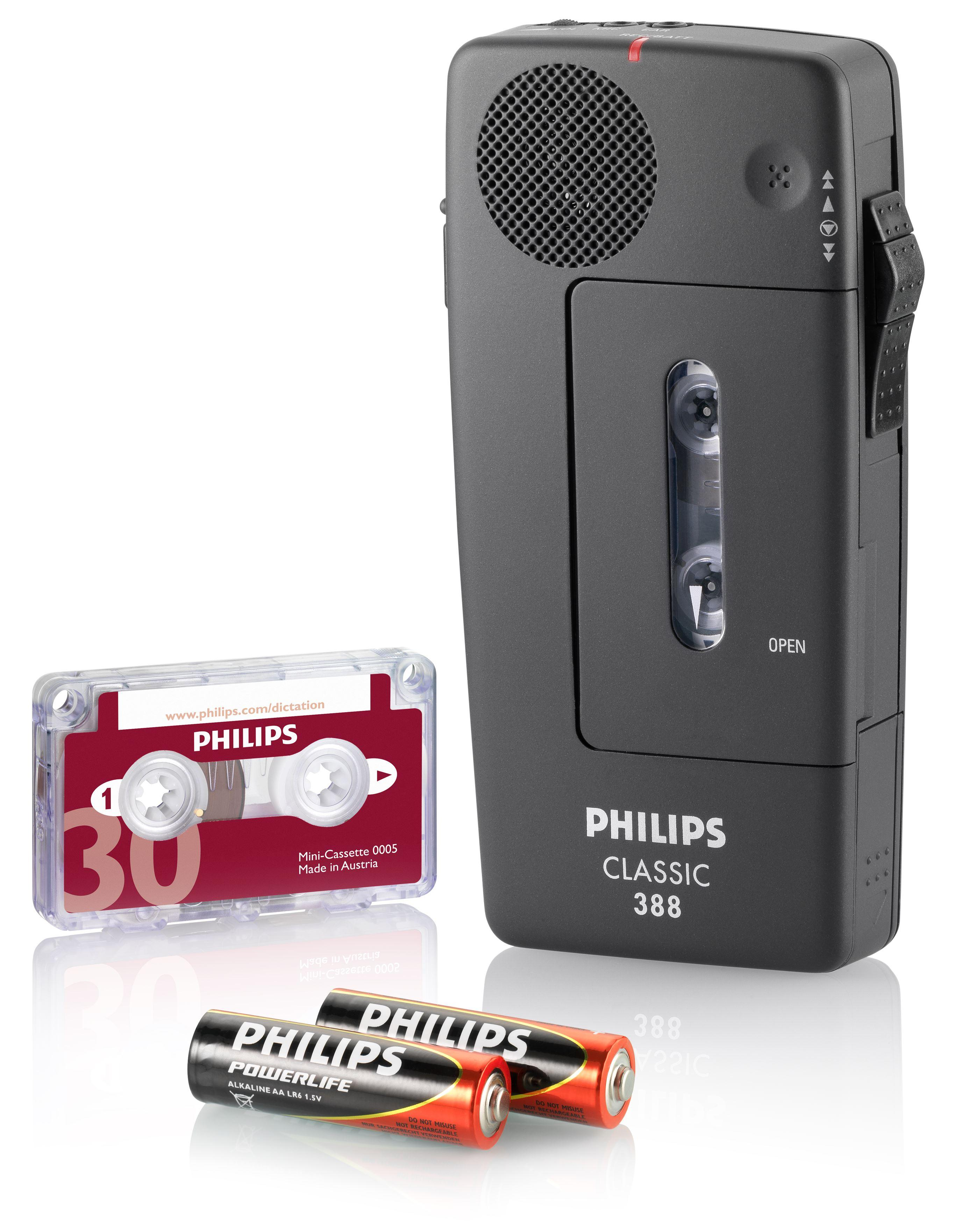 Philips Pocket Memo LFH0388 Analoges Mini-Kassetten Diktiergerät ...
