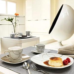 ritzenhoff breker kombiservice alina marron 30 teilig. Black Bedroom Furniture Sets. Home Design Ideas
