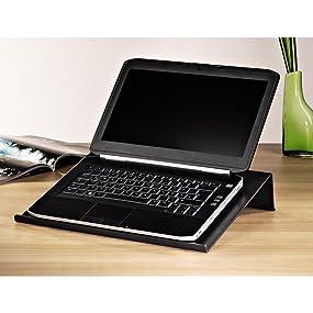 Notebookständer in hochwertiger Carbon-Optik