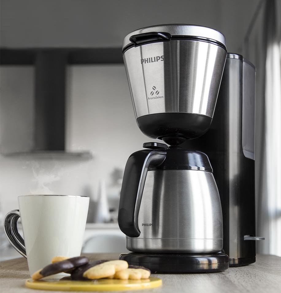 philips hd7697 90 intense filter kaffeemaschine aroma wahlfunktion schwarz edelstahl. Black Bedroom Furniture Sets. Home Design Ideas