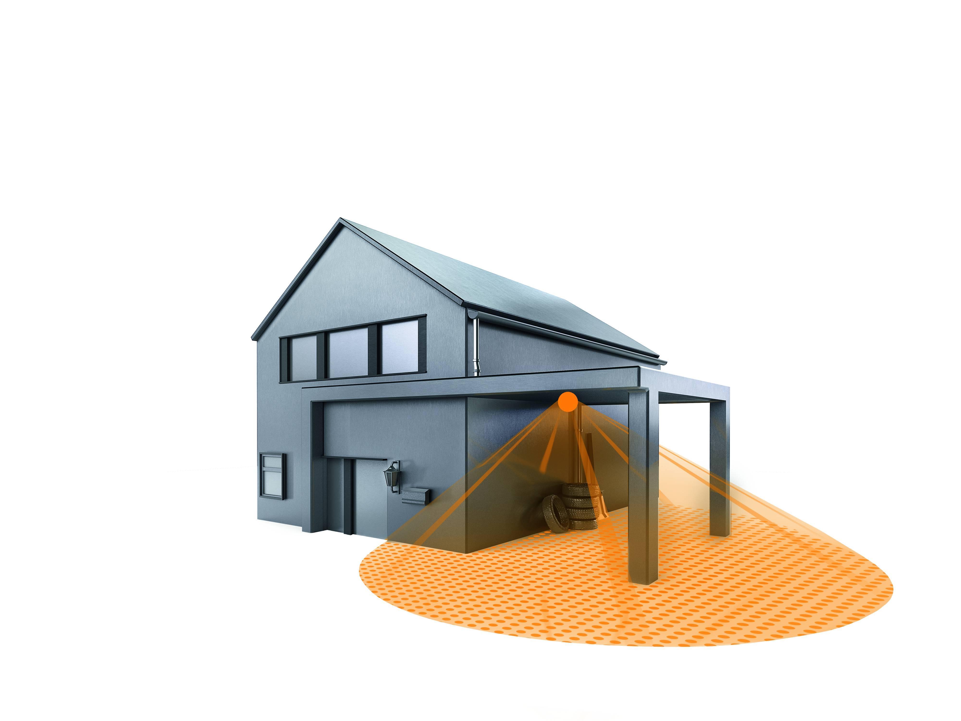 steinel bewegungsmelder is 360 trio schwarz mit 3 infrarot. Black Bedroom Furniture Sets. Home Design Ideas