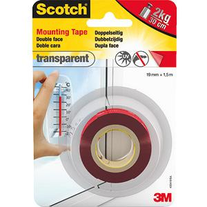 Starker Halt f/ür die Verwendung im Innenbereich Scotch doppelseitiges Montageklebeband in Wei/ß 40011915 19 mm x 1,5 m