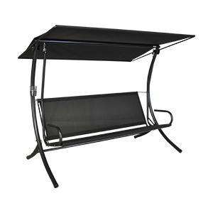 angerer royal style hollywoodschaukel style grau schwarz 3 sitzer. Black Bedroom Furniture Sets. Home Design Ideas