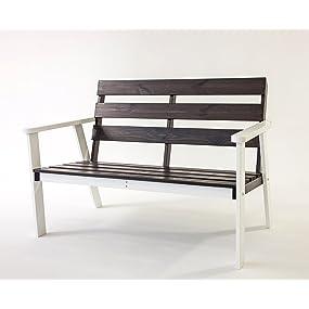 2-Sitzer Bank Hanko in weiß / taupe grau
