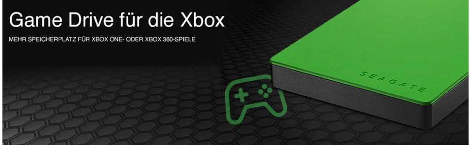 seagate game drive f r xbox 2tb gr n. Black Bedroom Furniture Sets. Home Design Ideas