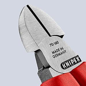 Knipex 70 02 160 Seitenschneider, präzises Schneiden bis Ø 4,0 mm, Länge 160 mm, mit Mehrkomponenten