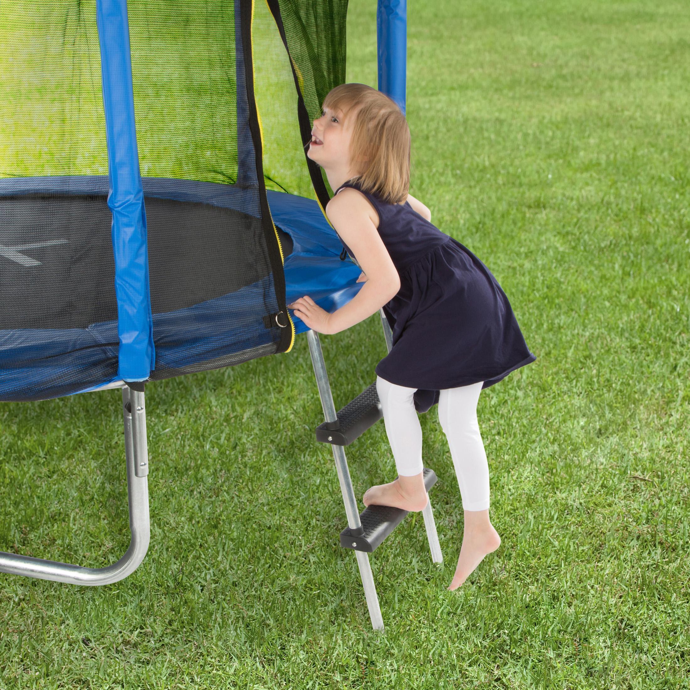 ultrasport trampolin leiter f r alle g ngigen trampoline silber schwarz 95 cm. Black Bedroom Furniture Sets. Home Design Ideas