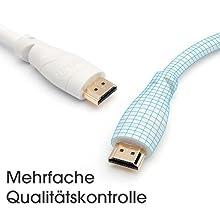 kabeldirekt; hdmi kabel weiss; hdmi kabel weiß; 4K; hdmi 2.0; hdmi; 1080p; qualitätskontrolle;
