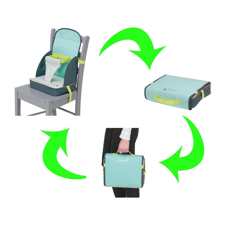 safety 1st 27547741 stuhl sitzerh hung travel booster f r unterwegs ab 18 monate splash grey. Black Bedroom Furniture Sets. Home Design Ideas