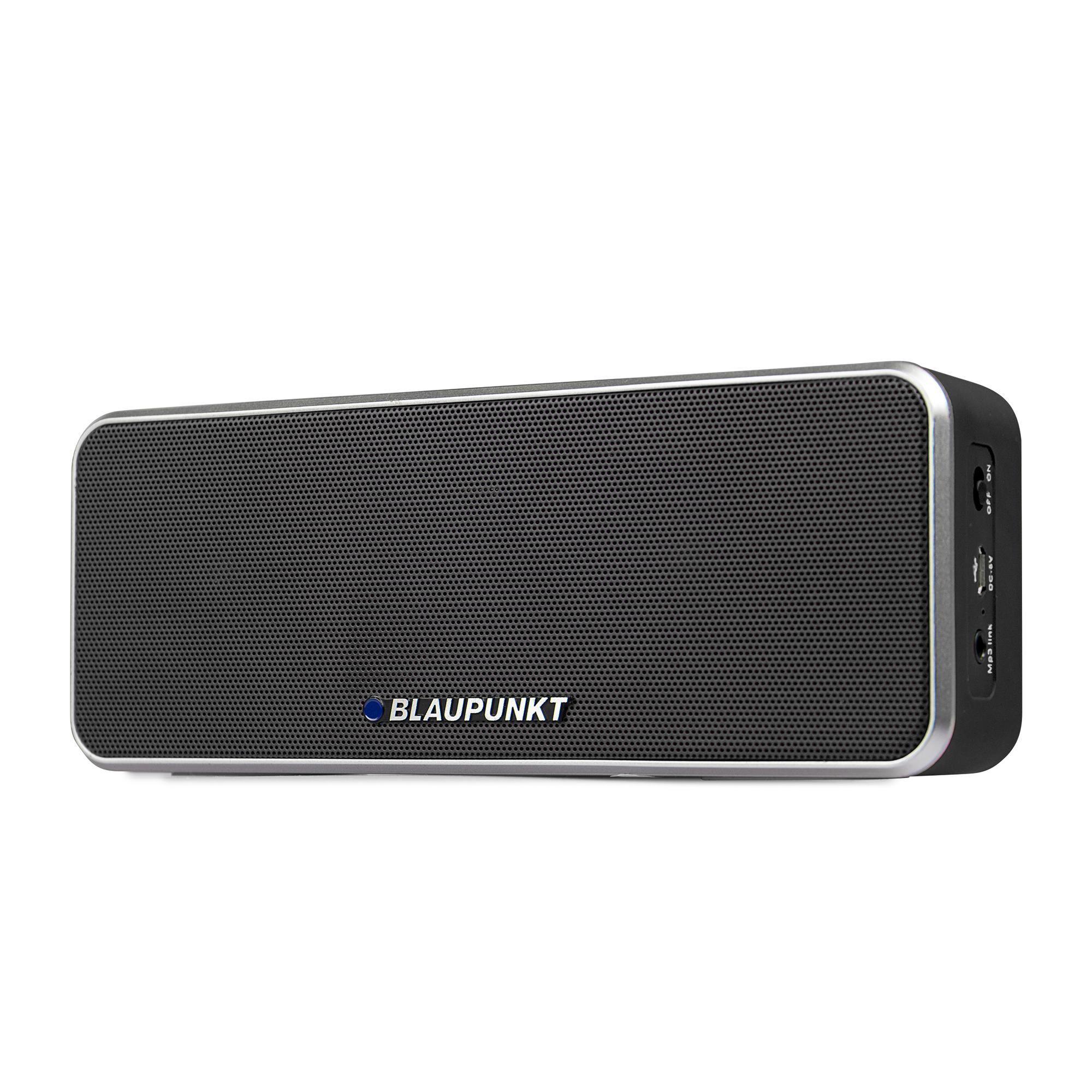 blaupunkt bt 6 bl bluetooth lautsprecher mit mikrofon freisprecheinrichtung eingebauter akku. Black Bedroom Furniture Sets. Home Design Ideas