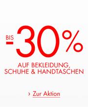 30% auf Bekleidung, Schuhe & Handtaschen