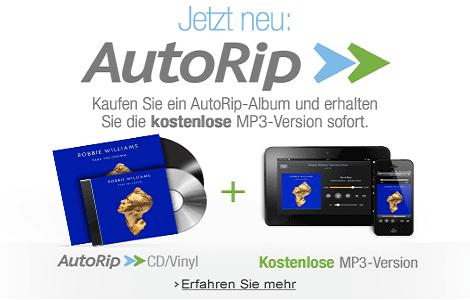 Teaser Bild für Amazon Special: AutoRip: CD oder Vinyl-Schallplatte kaufen, MP3-Version gratis
