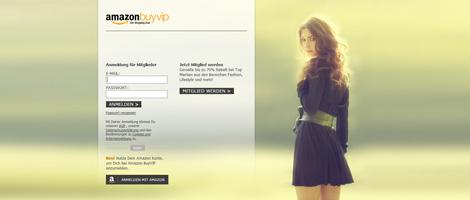 Teaser Bild für Amazon Special: Amazon BuyVIP Webseite