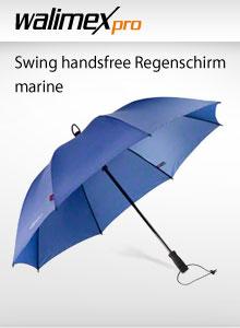 Euroschirm Swing Handsfree Regenschirm Rot Kamera