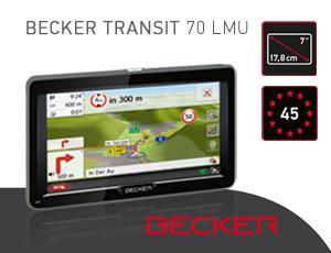 becker transit 70 lmu navigationsger t 7 zoll. Black Bedroom Furniture Sets. Home Design Ideas