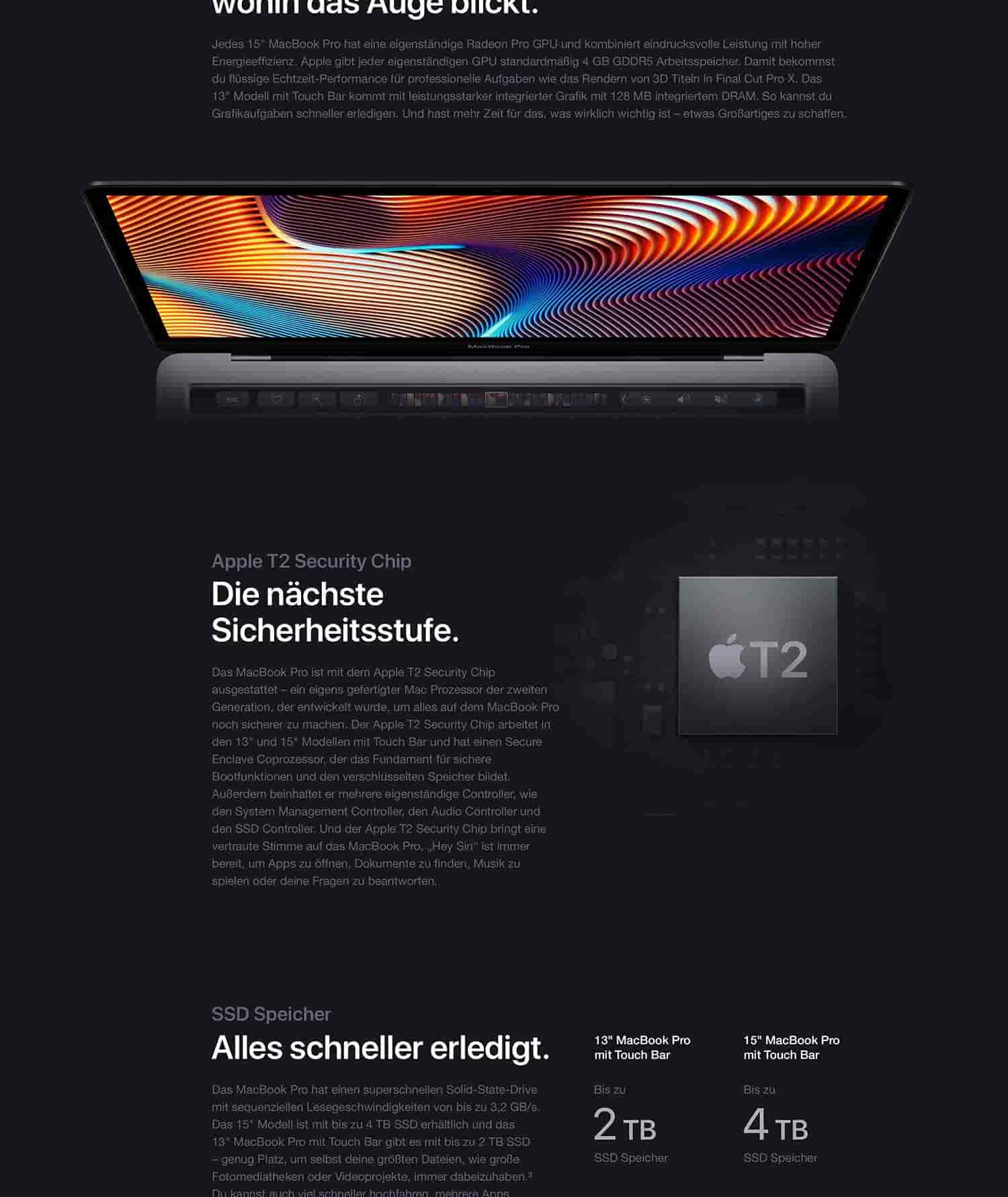 "Neues Apple MacBook Pro (13"", 2,4 GHz Quad‑Core Intel Core"