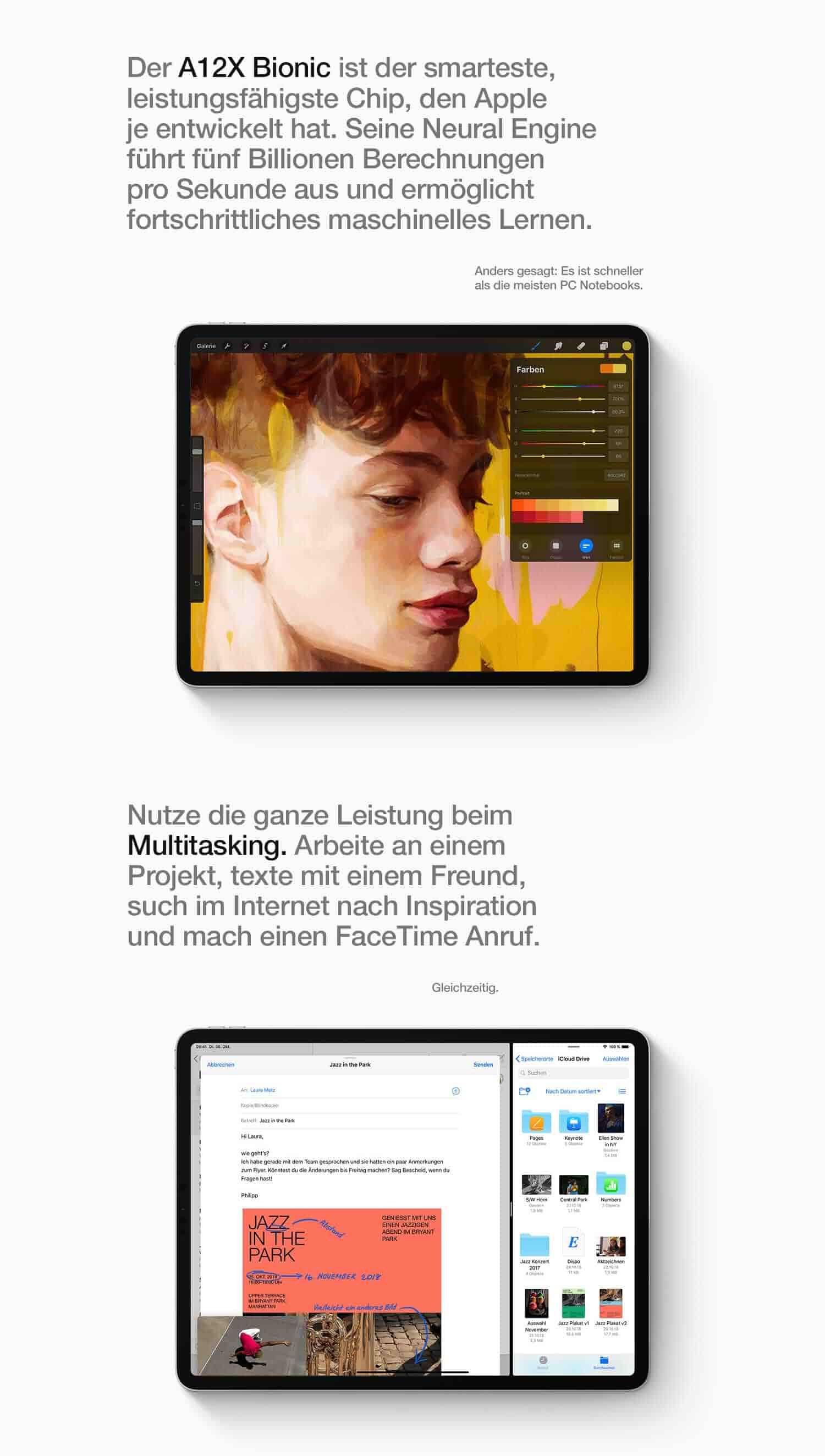 """Apple iPad Pro (12,9"""", Wi‑Fi, 64GB) - Space Grau: Amazon"""