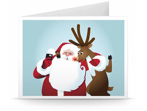 gutschein zum drucken selfie santa geschenkgutscheine. Black Bedroom Furniture Sets. Home Design Ideas