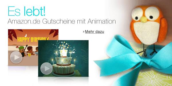 Gutscheine mit Animation