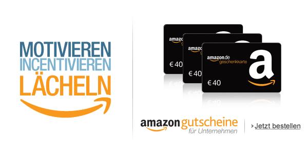 Amazon.de Gutscheine für Unternehmen
