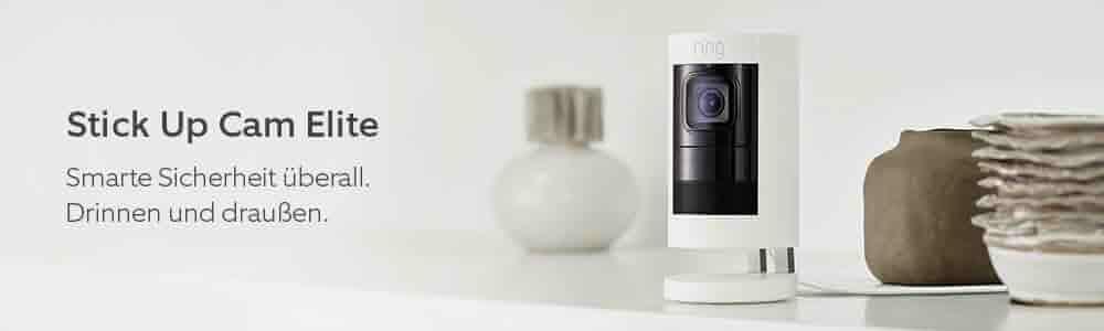 Stick Up Cam Wired. Smarte Sicherheit überall. Drinnen und drau?en