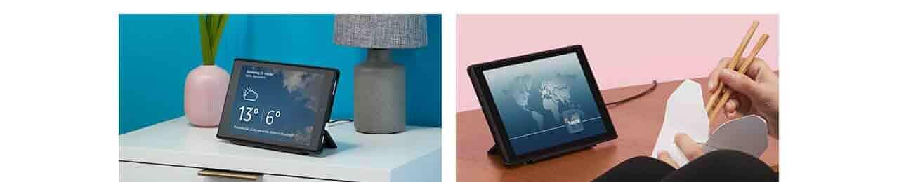 Verwandeln Sie Ihr Tablet, sodass Alexa Ihnen Dinge zeigen kann