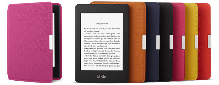 Farbauswahl der Kindle Paperwhite-Hüllen