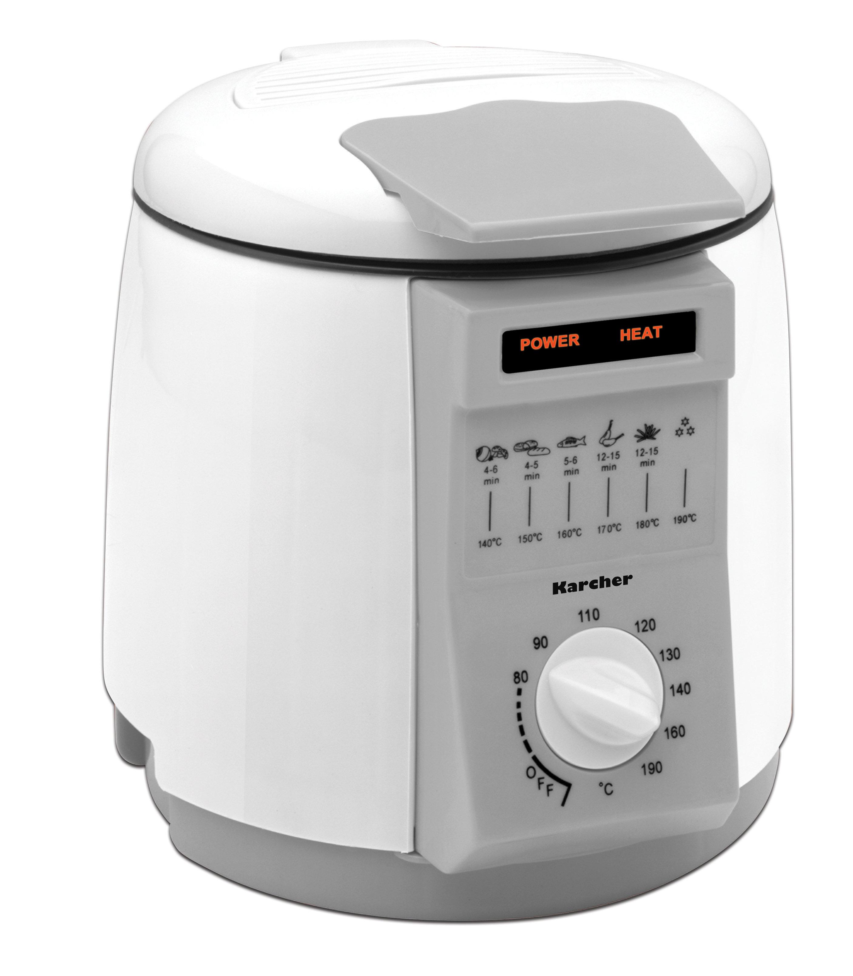 karcher 112983 set mini friggitrice e fonduta 2 in 1 colore bianco casa e cucina. Black Bedroom Furniture Sets. Home Design Ideas