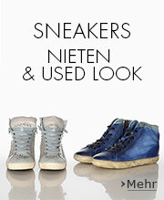 Sneakers Nieten und Used Look