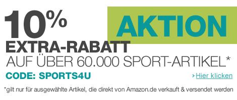 Amazon Rabatt auf Sport-Artikel
