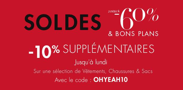 -10% supplémentaires sur les SOLDES
