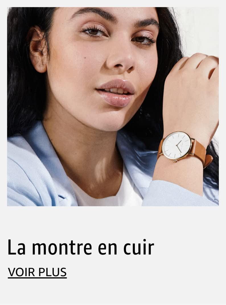 La montre en cuir