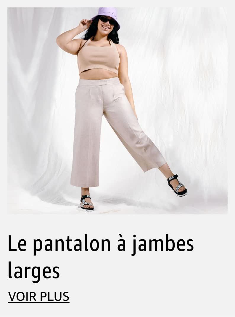 Le pantalon à jambes larges