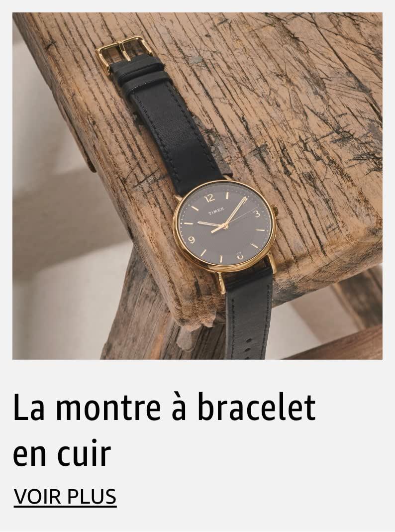 La montre à bracelet en cuir