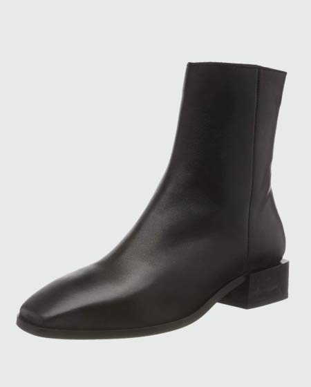 VERO MODA Leather Boot Ankle