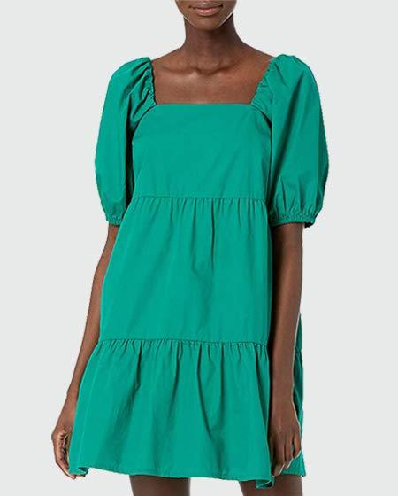 The Drop Puff-Sleeve Mini Dress