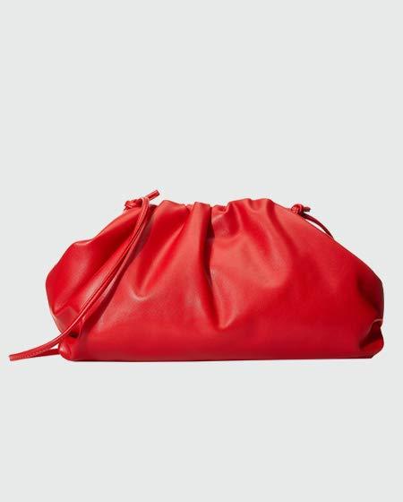 The Drop Women's Francesca Croissant Pouch Bag, Red