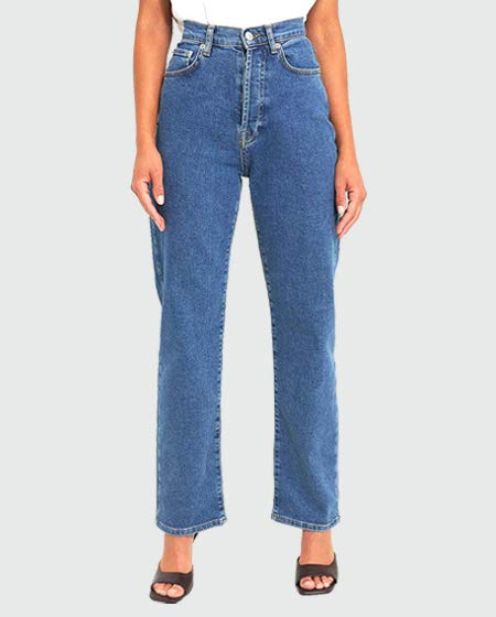 NA-KD Women's Straight High Waist Jeans