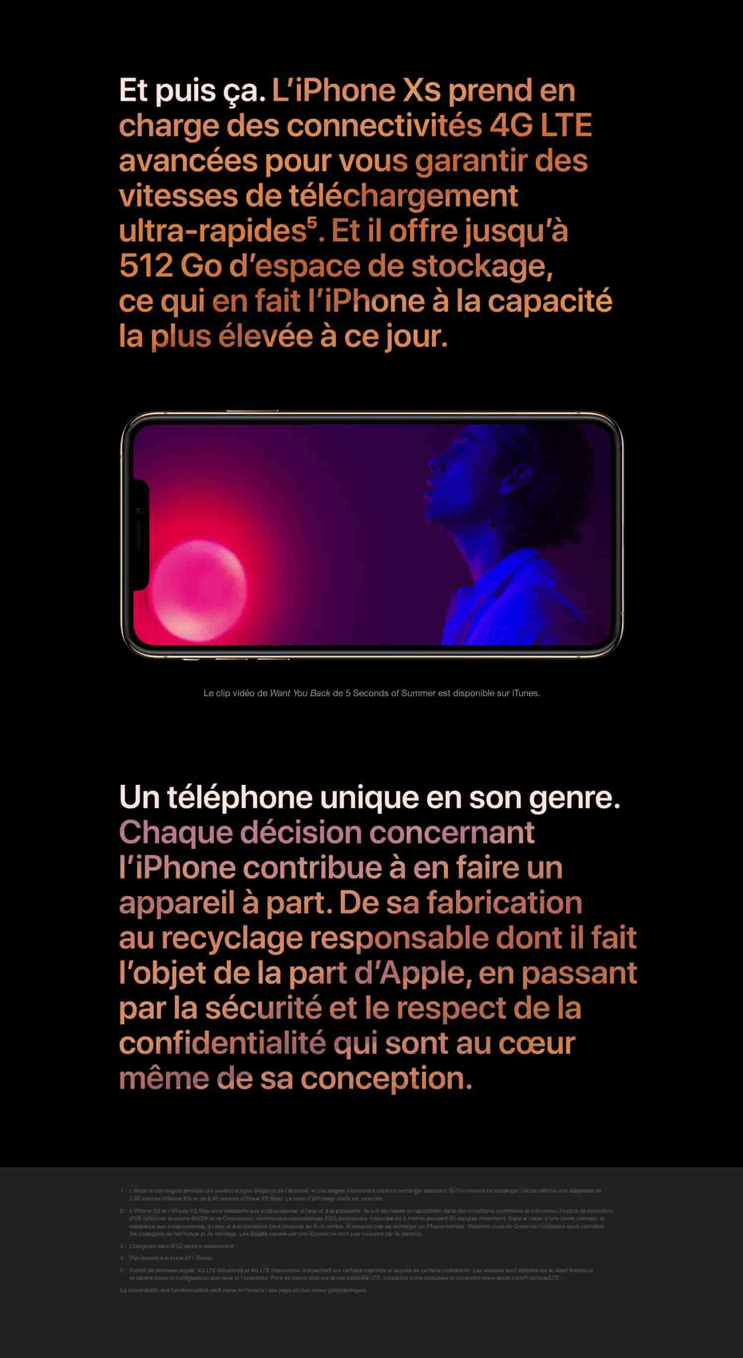 Apple iPhone XS Max (64 GO) - Or: Amazon.fr