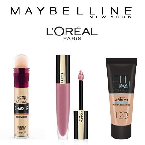 Maybelline New York & L'Oréal Paris: -25% sur des produits de maquillage