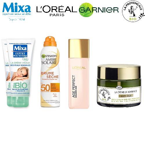 Garnier, Mixa, La Provençale... jusqu'à -35% sur les soins visage, corps et capillaires