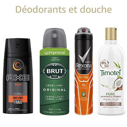 Timotei, Axe, Williams ...: jusqu'à -30% sur les déodorants et l'hygiène douche