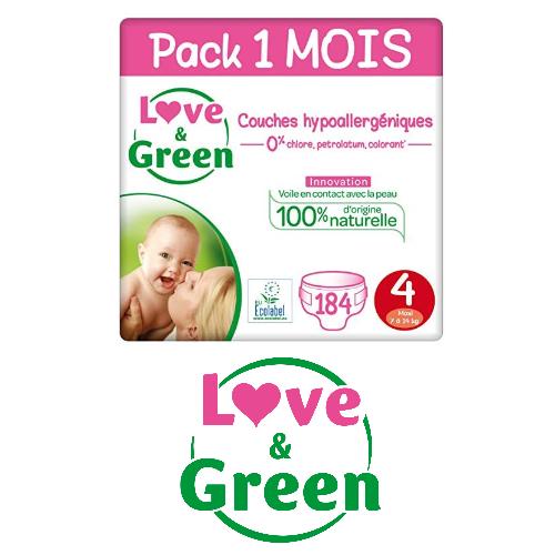 Love & Green : jusqu'à -30 % sur les packs 1 MOIS de couches