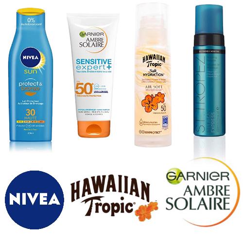 Ambre Solaire, Hawaiian tropic, St Tropez : -40% sur le solaire