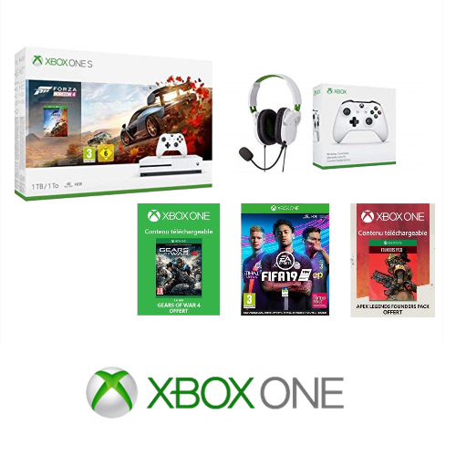 Xbox: - 25% sur le pack One S + 2 manettes + jeux exclusif Amazon