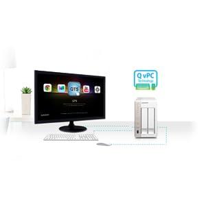 Windows Linux et Unix sur votre NAS, NAS virtualisation intégrée, QvPC, Multi os