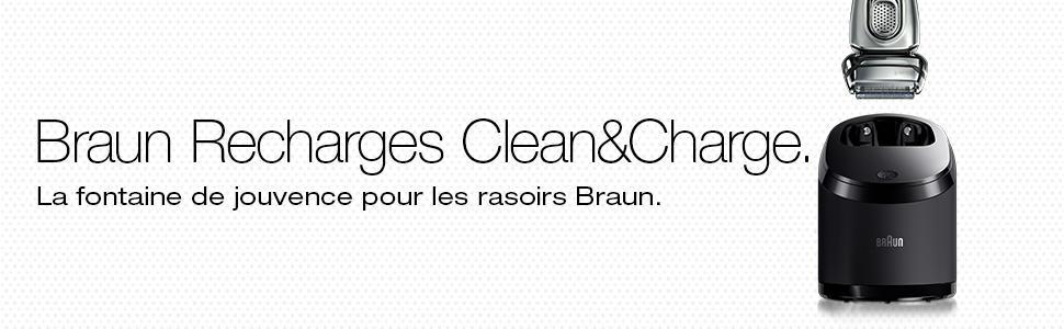 Braun CCR2 Clean et Renew Pack de 2 Recharges de Liquide Nettoyante