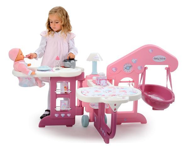smoby 24018 poup e et mini poup e baby nurse maison des b b s jeux et jouets. Black Bedroom Furniture Sets. Home Design Ideas