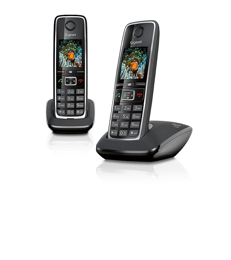 Gigaset C530A DUO T/él/éphone sans fil avec r/épondeur Noir